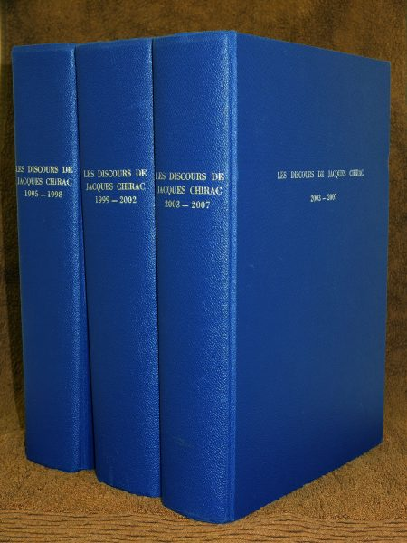 Special things to buy LES DISCOURS DE JACQUES CHIRAC  - 2007 - EDITION 10 + 3 AP - 750 EURO