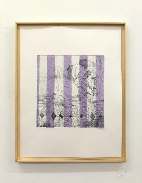 IL NUOVO III NORA KAPFER, WITHOUT TITLE, 2017 - etching and chine colle on paper - Edition of 3, each unique - 300,00 EUR