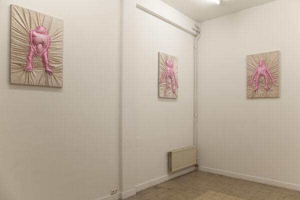 CHAGRIN DE MERDE Chagrin de Merde - Exhibition view, Angélique Aubrit, bedtime, 2021